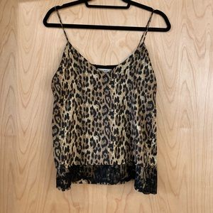 Zara Leopard and Lace Camisole